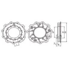 Геометрия турбины MERCEDES-PKW SPRINTER I 211CDI/311CDI/411CDI 703894-3 jrone
